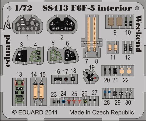 Eduard F6F-5 interior S.A.  Weekend (Eduard)