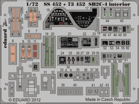Eduard SB2C-4 interior S.A. (Cyber Hobby)