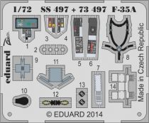 Eduard F-35A interior S.A. (Italeri)