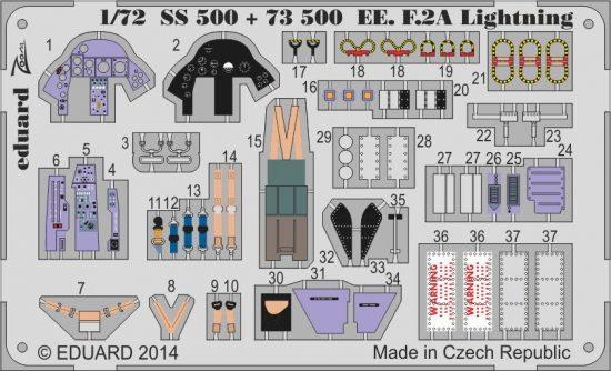 Eduard EE F.2A Lightning interior S.A. (Airfix)