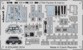Eduard Su-27SM Flanker B interior S.A. (Zvezda)