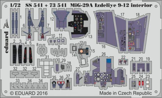 Eduard MiG-29A Izdeliye 9-12 interior (Trumpeter)