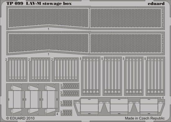 Eduard LAV-M stowage box (Trumpeter)
