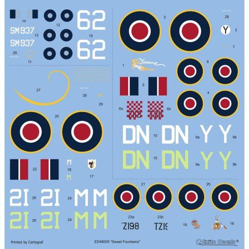 Exito Decals Sweet Fourteens - Supermarine Spitfire Mk. XIVe matrica
