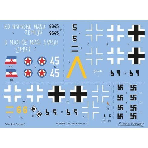 Exito Decals The Last in Line - Messerschmitt Bf 109 G-10 WNF matrica
