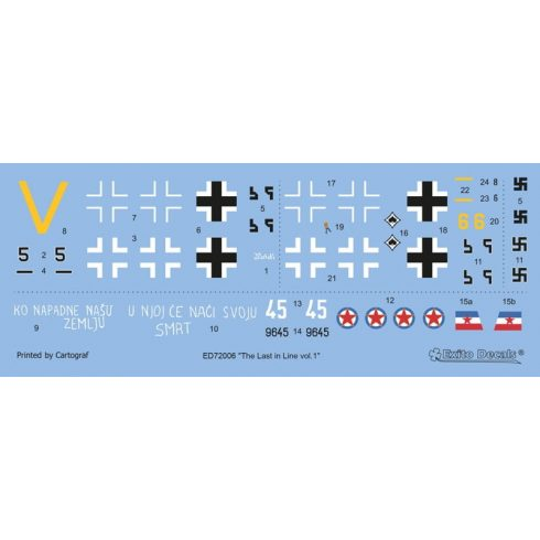 Exito Decals The Last in Line vol.1 - Messerschmitt Bf 109 G-10 WNF matrica