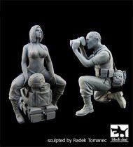 Black Dog US Woman Soldier -War Journalist