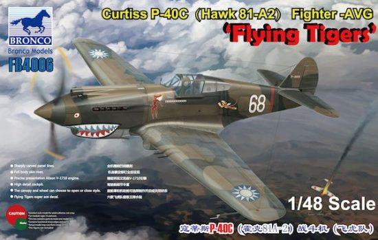 Bronco Curtiss P-40C (Hawk 81-A2) Flying Tigers makett