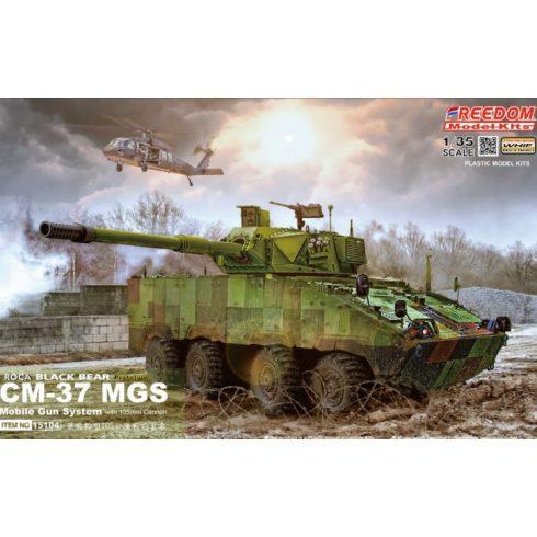 Freedom Model ROCA CM-37 Mobile-Gun System Black Bear with 105mm Gun makett