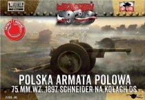 First to Fight Schneider 75mm Polish Field Cannon on DS wheels makett