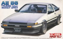 Fujimi Toyota EA86 Sprinter Trueno 1600GT makett