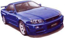 Fujimi Nissan Skyline GT-R R34 makett