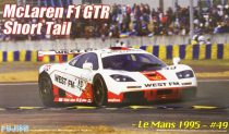Fujimi McLaren F1 GTR Short Tail 1995 le Mans N49 West FM makett