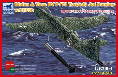 Bronco Blohm & Voss Bv P 178 Torpedo Jet Bomber