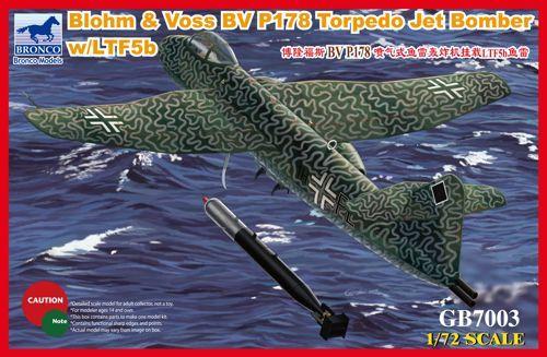 Bronco Blohm & Voss Bv P 178 Torpedo Jet Bomber makett