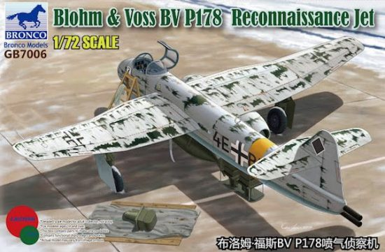 Bronco Blohm & Voss BV P.178 Reconnaissance Jet makett