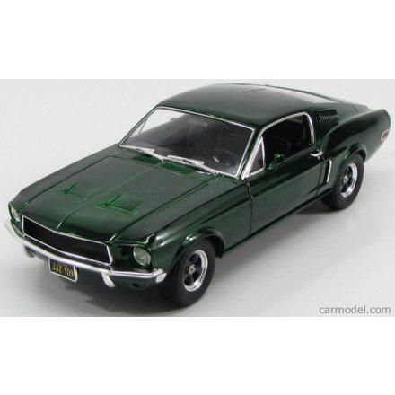 Greenlight FORD MUSTANG GT390 - BULLITT - STEVE McQUEEN - 1968 - CHROME EDITION