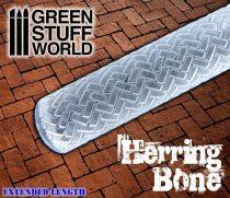 Green Stuff World Rolling Pin Herringbone