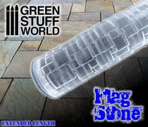 Green Stuff World Rolling Pin Flagstone