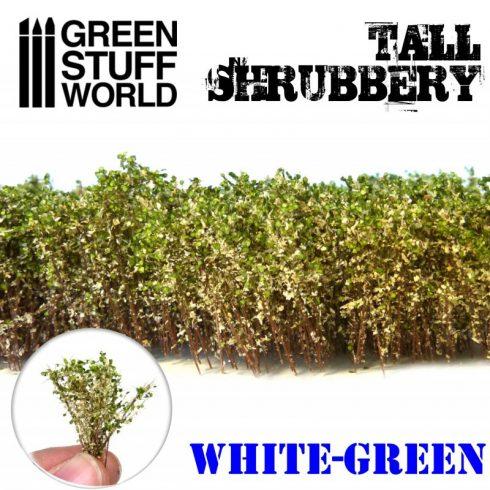 Green Stuff World Tall Shrubbery - White Green
