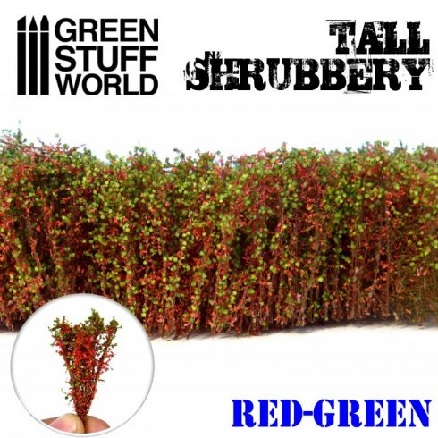 Green Stuff World Tall Shrubbery - Red Green