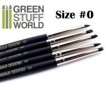Green Stuff World formázó szilikon ecset 0 - BLACK FIRM