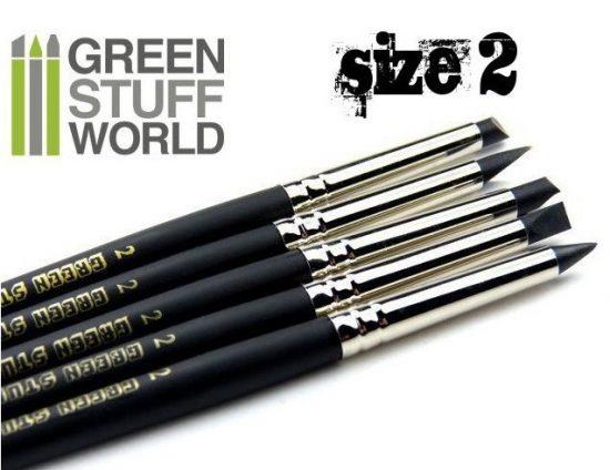 Green Stuff World formázó szilikon ecset 2 - BLACK FIRM