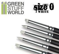 Green Stuff World formázó szilikon ecset 0 - WHITE SOFT