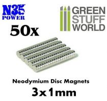 Green Stuff World N35 Neodymium mágnes 3x1mm