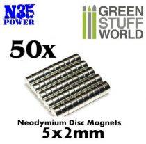 Green Stuff World N35 Neodymium mágnes 5x2mm