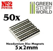 Green Stuff World N52 Neodymium mágnes 5x2mm