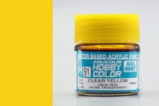 Hobby Color H91 Clear yellow (fényes) - átlátszó