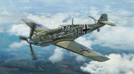 Hasegawa Messerschmitt Bf109E-4 JG77 Blitz Limited Edition makett