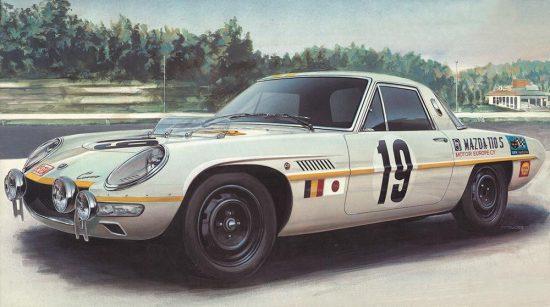 """Hasegawa Mazda Cosmo Sport """"1968 Marathon de la Route"""" makett"""
