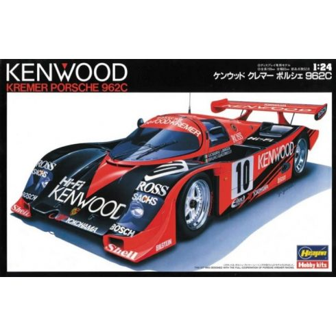 Hasegawa Kenwood Kremer Porsche 962C makett