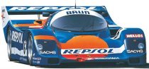 Hasegawa Porsche 962C Brun makett