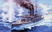 Hasegawa IJN Destroyer Mikasa Battle of The Yellow Sea makett