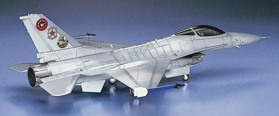 Hasegawa F-16N Top Gun makett