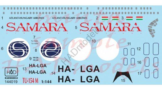 HAD Tu-154 M Samara Airlines