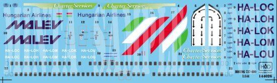 HAD 737/800 MALÉV