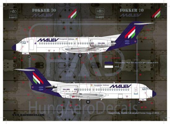 HAD Fokker 70 MALÉV