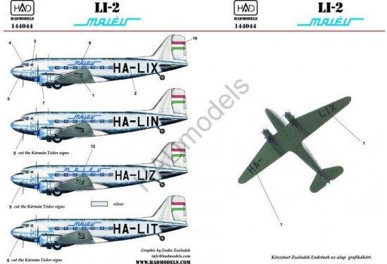 HAD LI-2 MALÉV (HA-LIX; HA-LIN; HA-LIT) Eastern Express