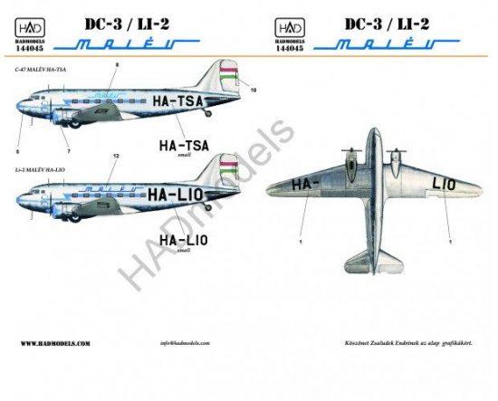 HAD C-47/LI-2 MALÉV (HA-TSA, HA-LIO) Eastern Express
