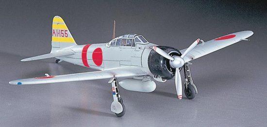 Hasegawa Mitsubishi A6M2b 'Zero' Type 21 'Zeke' makett