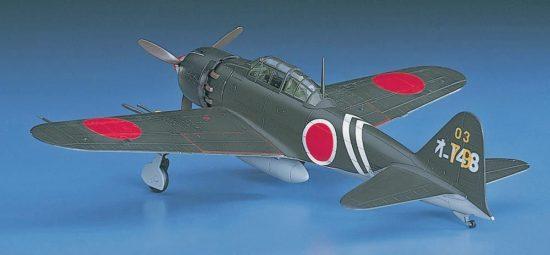 Hasegawa Mitsubishi A6M5C Zero Fighter Type 52 Hei makett