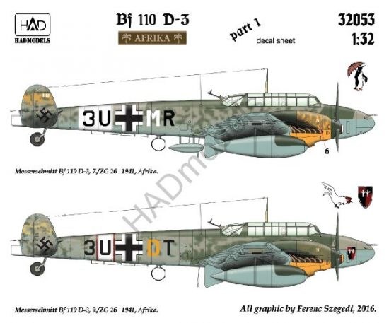 """HAD Messerschmitt Bf 110 D-3 """"Afrika"""""""