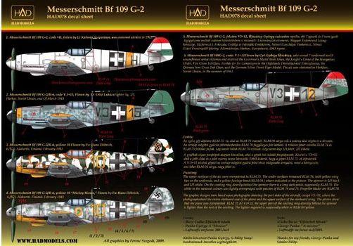 HAD Messerschmitt Bf-109 G-2