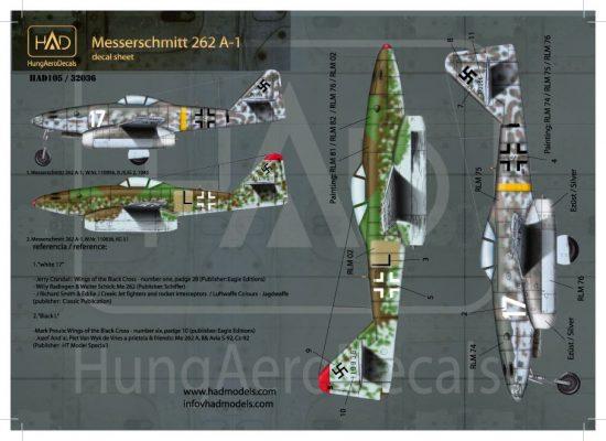 HAD Messerschmitt Me 262 A-1