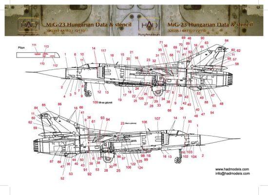 HAD MiG 23 Hungarian