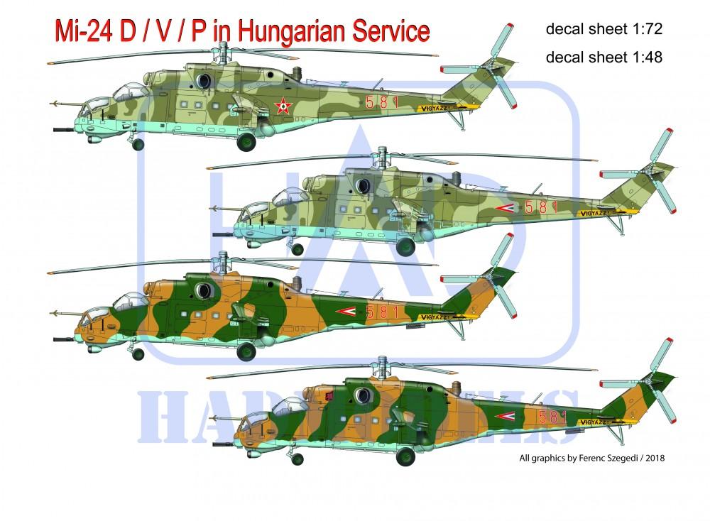 részletek a olcsó időtlen tervezés HAD Mi-24 D/V/P Magyar szolgálatban matrica 1:48 - Modellfutár ...